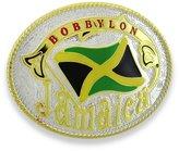 Zeckos Jamaican Flag `Bobbylon` Western Style Jamaica Belt Buckle