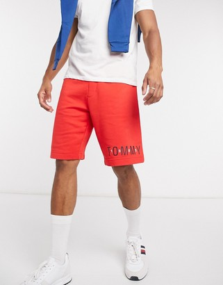Tommy Hilfiger lounge shorts in red with logo