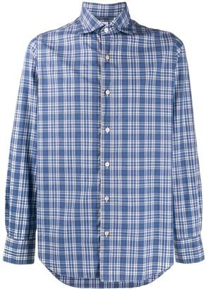 Finamore 1925 Napoli long-sleeved check shirt