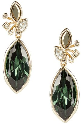 Alexis Bittar 10K Goldplated & Navette Crystal Drop Earrings