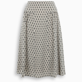 Salvatore Ferragamo All over logo silk skirt