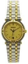 Gucci 9000L Stainless Steel / Gold Plated with Gold Dial 25mm Womens Watch