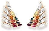 Anton Heunis Swarovski crystal rainbow wing earrings