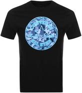 Converse Neon Camo Logo T Shirt Black