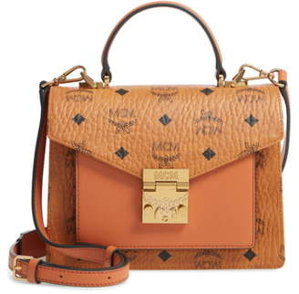 MCM Small Patricia Visetos Coated Canvas & Leather Satchel