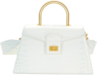 Apede Mod Large Le Book croc-embossed leather structured bag