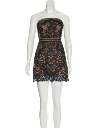 Self-Portrait Lace Mini Dress w/ Tags Black