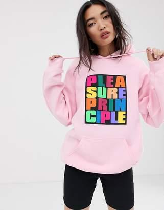 House of Holland Pleasure Principle hoodie-Pink