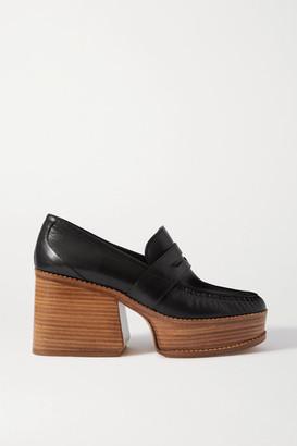 Gabriela Hearst Augusta Leather Platform Pumps - Black