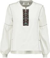 Derek Lam 10 Crosby Embroidered silk blouse