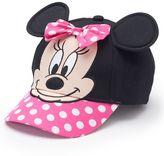 Disney's Minnie Mouse Toddler Girl 3D Ears Baseball Hat
