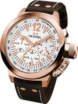 TW Steel Men's CE1019 CEO Canteen Brown Leather Chronograph Dial Watch
