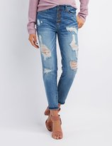 Charlotte Russe Crop Destroyed Boyfriend Jeans