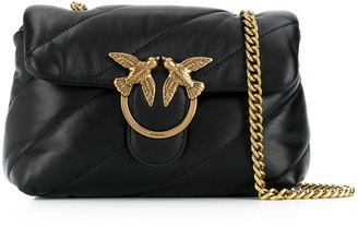 Pinko Quilted Leather Crossbody Bag