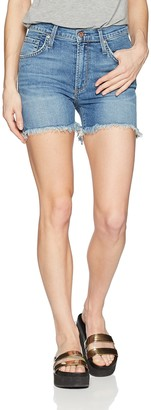 James Jeans Women's Mimi High Rise Frayed Shorts