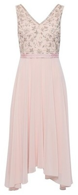 Dorothy Perkins Womens **Showcase Petite Blush Valarie Midi Dress