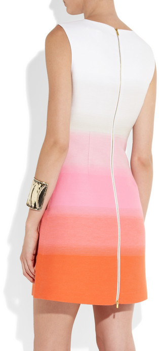 Diane von Furstenberg Carpreena dégradé woven twill mini dress