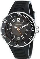 Philip Stein Teslar Men's 34-BB-RB Extreme Black Rubber Strap Watch