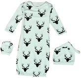 Efaster® Efaster(TM) Lovely Baby Reindeer Pattern Gown Hat Mittens Anti-kick Sleeping Bag (6M, )