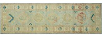 Blue Area One-of-a-Kind Runner Aquino Oriental Hand-Knotted 2'9 X 9'7 Wool Rug Isabelline