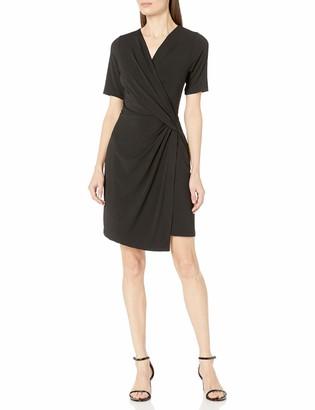 Karen Kane Women's Crossover Drape Dress