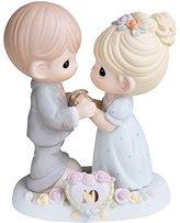 "Precious Moments Precious Moments, Anniversary Gifts, ""A Decade Of Dreams Come True - 10th Anniversary"", Bisque Porcelain Figurine, #730007"
