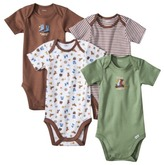 GE Gerber Onesies® Newborn Boys' 4 Pack Cowboy - Brown