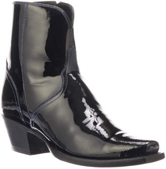 Lucchese Paz Shiny Ankle Boots