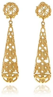 Georgina Jewelry Gold Signature Drop Earrings
