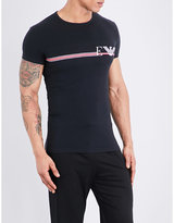 Emporio Armani Line logo stretch-cotton T-shirt