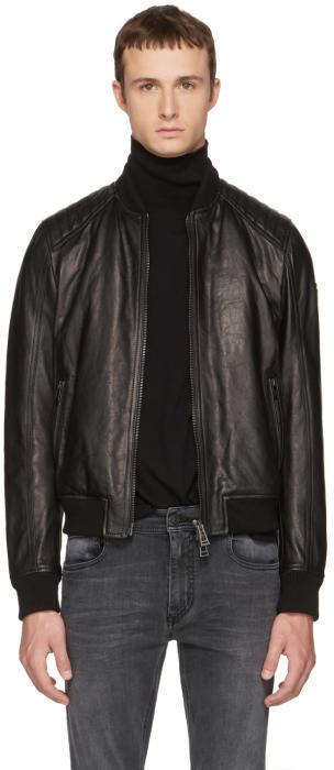 Belstaff Black Leather Pershall Jacket