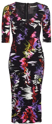 Alice + Olivia Delora Abstract Print Bodycon Dress