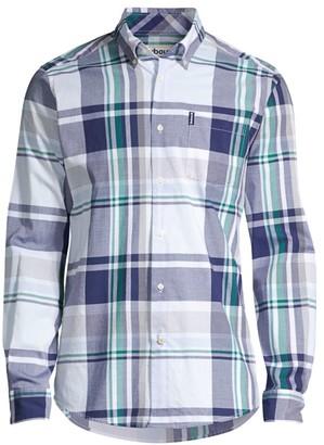 Barbour Madras Plaid Dress Shirt
