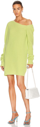 GAUGE81 Isa Long Off the Shoulder Sweater Dress in Bright Lime | FWRD