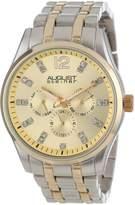 August Steiner Men's AS8068TT Crystal Multi-Function Quartz Bracelet Watch