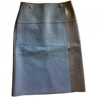 Loewe Black Leather Skirt for Women