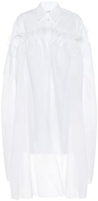 MM6 MAISON MARGIELA Cotton and tulle shirt