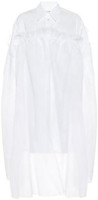 MM6 MAISON MARGIELA Cotton and tulle shirt