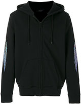 Marcelo Burlon County of Milan feather print sleeve hoodie