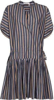 See by Chloe Pleated Striped Dress
