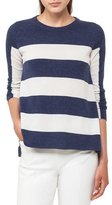 Akris Punto Crewneck Long-Sleeve Striped Wool-Cashmere Knit Sweater