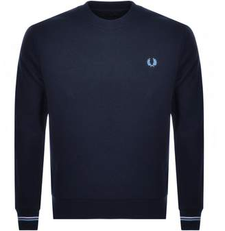 Fred Perry Crew Neck Sweatshirt Blue