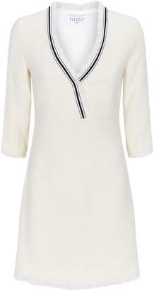 Claudie Pierlot Striped V-Neck Tweed Dress