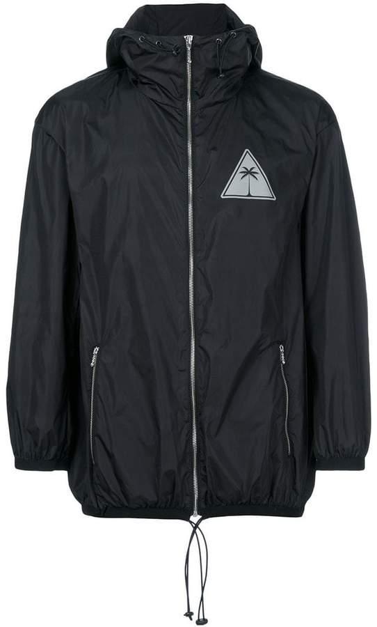 Palm Angels logo print windbreaker jacket