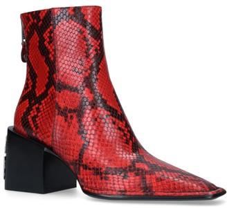 Alexander Wang Parker Snake Print Ankle Boots 75