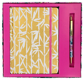 Lilly Pulitzer Bamboo Bash Journal with Pen - Pink/Gold