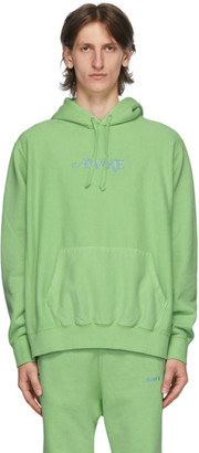 Awake NY Green Embroidered Logo Hoodie