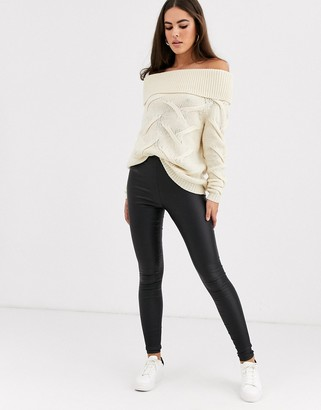 Vila coated leggings