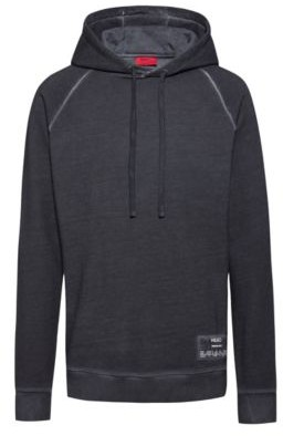 HUGO BOSS Relaxed-fit hooded sweatshirt in Recot2 French terry
