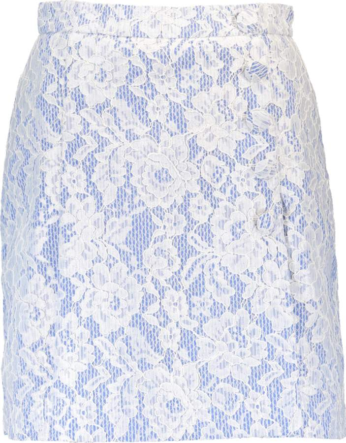 MSGM Lace Overlay Skirt
